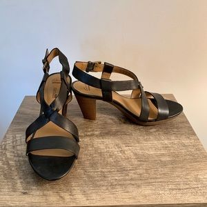Clark's Black Leather Sandals